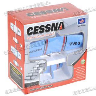 TW 781 Cessna Mini Infrared Control Indoor 2CH Airplane Plane RTF Blue