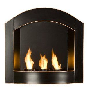 Decorative Indoor Outdoor Fireplace Heater w Real Flame