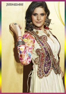 Indian Bollywood Anarkali Zarine Khan Designer Net Party Wear Salwar
