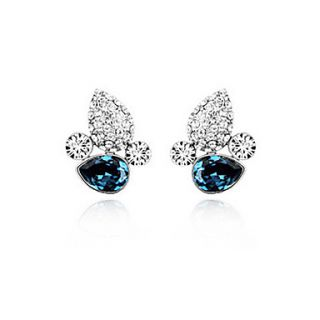 USD $ 14.39   Shining Crystal and Platinum Plated Alloy Earrings