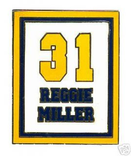 Indiana Pacers Reggie Miller 31 Retirement Banner Pin