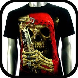 Shirt Biker Tattoo C109 Sz XXL 2XL Indie Rock Graffiti Devil