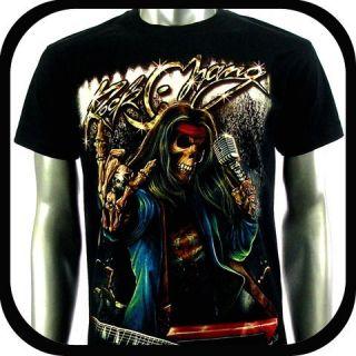 Biker Punk Tattoo C110 Sz M Indie Rock Graffiti Devil Music