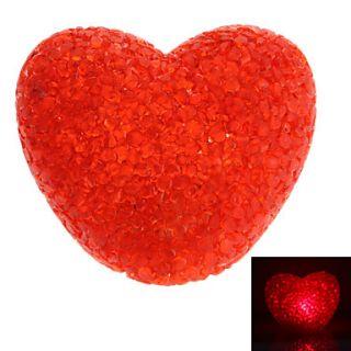 EUR € 3.03   Sweet Heart Shaped Red Crystal Light LED lámpara de