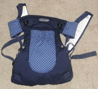 Infantino 6 in 1 Rider Baby Infant Carrier with Pocket Navy with Blue