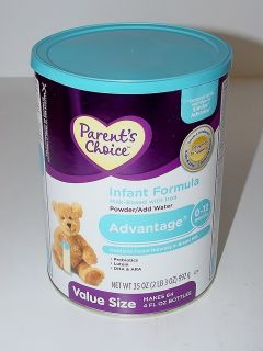 Parents Choice Advantage Infant Formula 35 oz Powder Milk Based with