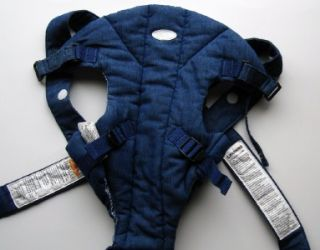 Infantino Baby Infant Carrier Cotton Denim Blue Jean