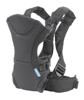 Infantino Flip Front 2 Back Carrier for Baby Black w Padded Straps New