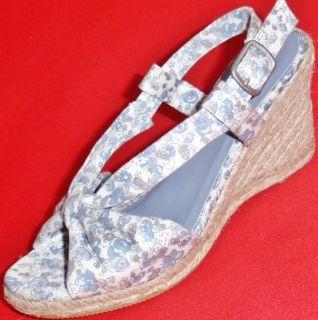 New Womens Sonoma Inez Blue White Wedge Heels Sandals Fashion Dress