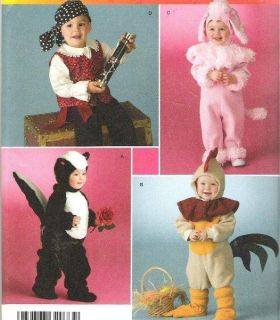 Simplicity Toddler Halloween Costume Sewing Pattern Size 1 2 3 4 Baby