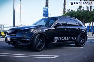 20 Rohana RC10 Matte Black Wheels Rims Fit Nissan 350Z 370Z Touring