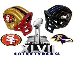 NFL Football Super Bowl XLVII Inflatable Helmet Pick Your Favorite