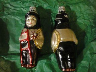 GERMAN INGE GLAS OLD WORLD BLOWN GLASS CHRISTMAS ORNAMENT FIREMAN