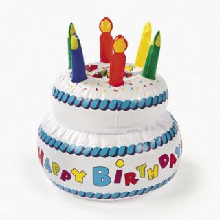 Inflatable Birthday Cake Party Decorations Pool Hot Tub Centerpiece
