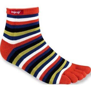 Injinji Rainbow Strip Mini Crew Toe Socks Womens Medium M Rust New