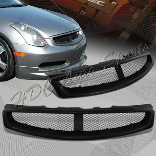 2003 2007 Infiniti G35 Coupe Black ABS Plastic Front Hood Mesh Style