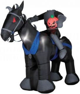 Airblown Inflatable Sleepy Hollow Headless Horseman Outdoor Halloween