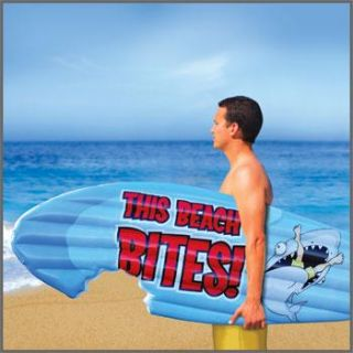 again this extra large 6 foot tall inflatable surf board shaped pool