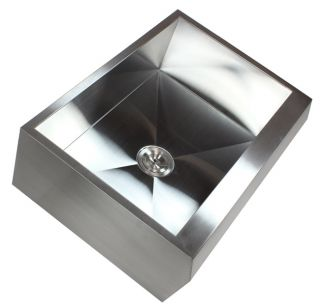 30 Stainless Steel Arrow Front Style Farm House Apron Kitchen Sink