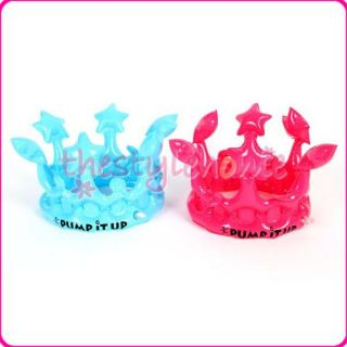 2pcs Inflatable Crowns Pool Toy Party Favours Role Playing Pentagrams