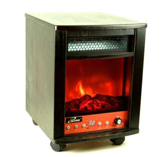 Iliving Electric Infrared Portable Fireplace Space Heater Remote 1500