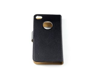 Leather Flip Pouch Protective Case Cover for iPhone 4 4G 4S Table Talk