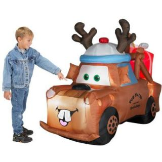Tow Mater Cars Reindeer Christmas Inflatable New
