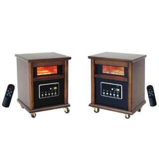 Infrared Heaters 4 Element Two Pack (2) Portable Space Electric Heater