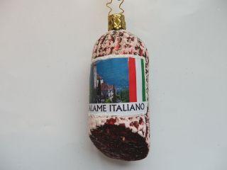 Inge Glas Italian Salami German Blown Glass Christmas Ornament