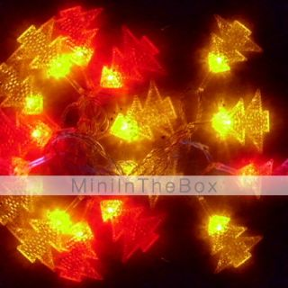 6M 3W 32 LED Colorful Light Christmas Tree Shaped String Fairy Lamp