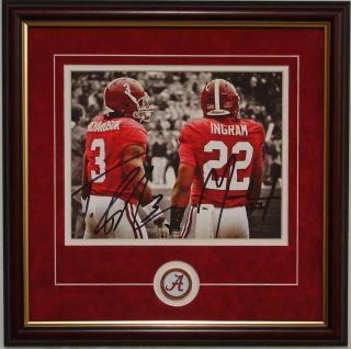 Alabama football Mark Ingram Trent Richardson autographed framed print