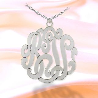 Personalized Cut Out Monogram Initial Necklace Made in USA
