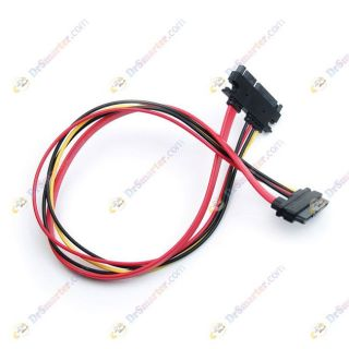 SATA 15 7 Pin Female to Male Extension Data Power Adapter Cable