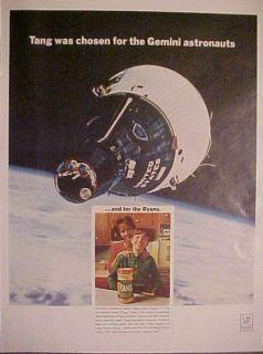 1966 Tang Instant Breakfast Drink Gemini Astronauts Ad