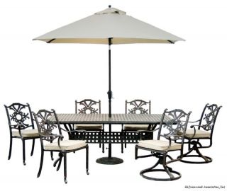 Innova Bailey Outdoor Patio Dining Table Chairs Set