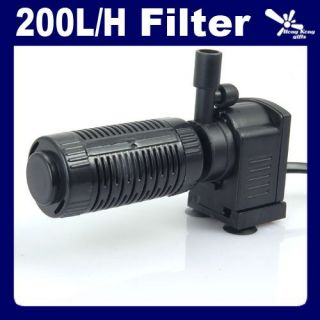 Fish Aquarium Internal Filter Fresh Sea Water 200L H