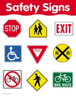 Safety Signs Basic Skills Poster Chart CTP New