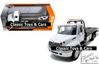 International Durastar 4400 Flatbed Tow Truck Diecast Model 1 24 Jada