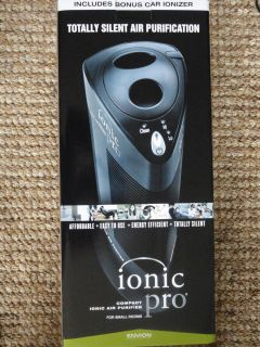 Ionic Pro Compact Ionic Air Purifier CA200 w Bonus Car Ionizer Envion