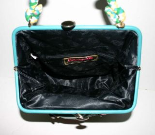 Betseyville by Betsey Johnson Blue Cotton Large Satchel Awesome