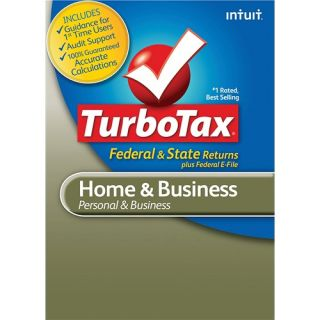 Intuit TurboTax Home & Business Fed + Efile + State 2012   Windows