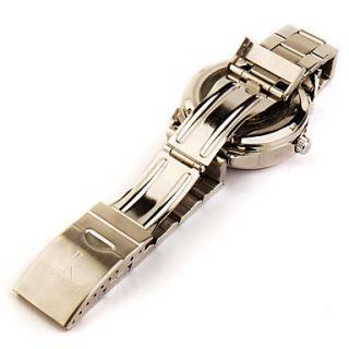 EUR € 45.62   aço inoxidável relógio banda esqueleto automática