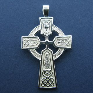 Sterling Silver Celtic Cross Irish Jewelry Knots High Cross 925