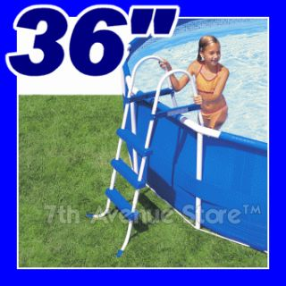 Intex 36 Height Above Ground Swimming Pool Ladder New