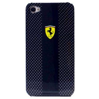 Officially Licensed Ferrari iPhone 4 4S Dual Tone Black Carbon Hard