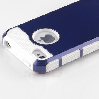 Rubber Matte Hard Case Cover for iPhone 4 4S w Screen Protector