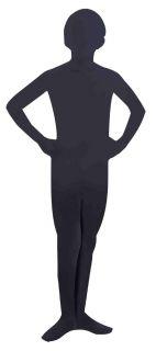 Invisible Man Child Costume Black Skin Suit New