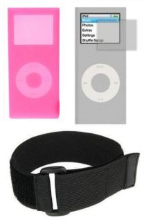 Pink Skin Cover Case for Apple iPod Nano 2nd Gen EXTRAS