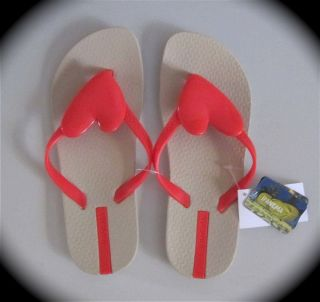 Ipanema Summer Love Red Heart Flip Flops Sandals Choose Size