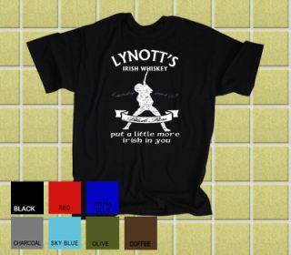 Thin Lizzy Lynotts Irish Whiskey T Shirt All Sizes